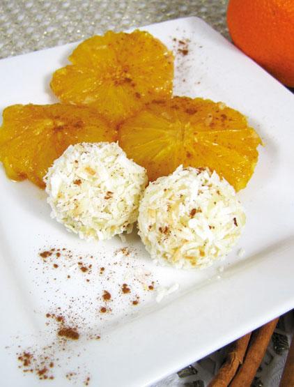 Reisbällchen mit Orange